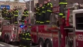 قدردانی گروهی از آتشنشانان نیویورک از کادر درمان
