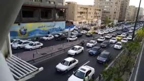 وضعیت ترافیک صبحگاهی در تهران