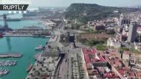 چهره بارسلونا در وحشت کرونا: خلوتترین لحظات شلوغترین شهر اسپانیا+فیلم