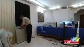 نصب و راه اندازی سازه دیوار سبز گل آویز در محیط داخلی آپارتمان