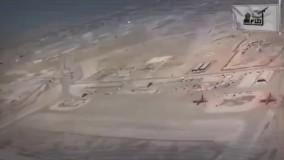 انتشار فیلمی از رصد عناصر آمریکایی در پایگاه عین الاسد