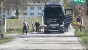تصادف وحشتناک قطار با یک کامیون در نروژ