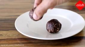 طرز تهیه توپک های خرمایی به مناسب برای ماه رمضان