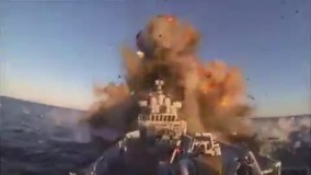 لحظه شلیک موشک و اصابت به ناوچه کنارک
