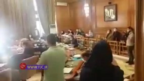 قهر اعضای شورای شهر با هاشمی و ترک  کردن صحن