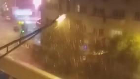 هماکنون؛ بارش شدید باران در تهران