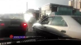 آبگرفتگی معابر قزوین بر اثر بارش شدید باران