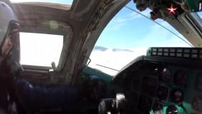 پرواز بمب افکن های روسی بر فراز دریای سیاه