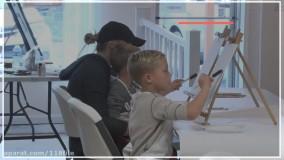 آموزش نقاشی | نقاشی کودکان  ( خرس قطبی کوچک