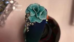 طراحی گل 4D روی ناخن _ آکادمی ناخن شیما شریف