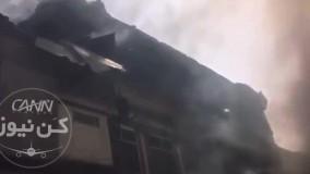 تخریب ساختمانها بر اثر سقوط ایرباس٣٢٠ در پاکستان