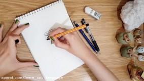 آموزش نقاشی فانتزی به سبک doodle با روان نویس و مداد رنگی
