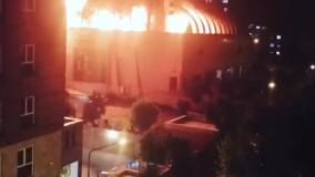 آتش سوزی بامداد امروز در مجتمع تجاری زیتون در بزرگراه بعثت تهران