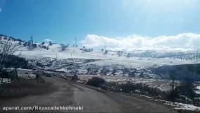 طبیعت زیبای برفی منطقه دره سید،  استان لرستان