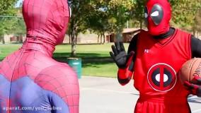 بسکتبال مرد عنکبوتی در مقابل دِدپول !!! _ قسمت 6