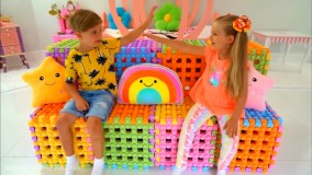 بازی خانه سازی || ماجراهای دیانا و روما