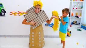 ولاد و نیکیتا جدید | بازی با اتومبیل های اسباب بازی