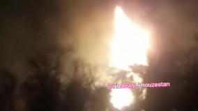 آتش در جنگل خسرج همچنان زبانه میکشد!
