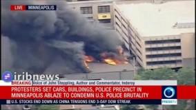 آتش زدن مقر پلیس در مینیاپولیس