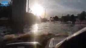 نتیجه ۲ ساعت بارش باران در شهر قزوین