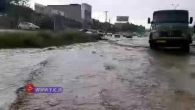 آبگرفتگی جاده شاندیز به مشهد