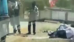 نخستین تصاویر از حمله مسلحانه به خودرو حامل زندانیان