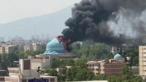 گنبد مسجد ستاد ناجا دچار حریق شد