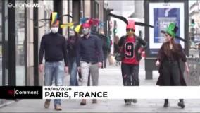ساخت کلاههای ویژه رعایت فاصله اجتماعی در پاریس