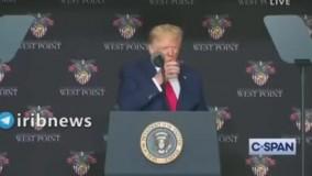 اب خوردن ترامپ