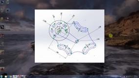 طراحی و مدلسازی دو بعدی در نرم افزار solidworks قطعه 1