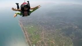 سقوط آزاد تفریحی از ارتفاع چهار کیلومتری در رامسر