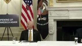 موبایل بازی ترامپ در جلسه مقابله با کرونا