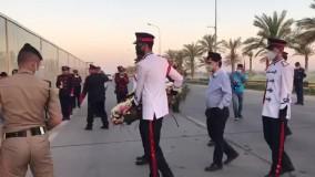 یادمان سردار سلیمانی در فرودگاه بغداد رونمایی شد