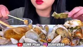 چالش صداي غذا _ خوردن انواع صدف با سس ویتنامی