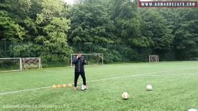 آموزش فوتبال : دریبل کردن دفاع پشت سرتون  توسط احمدرضا فلسفی