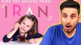 واکنش عجیب بچه ها به غذاهای ایرانی