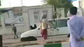 درگیری عجیب خیابانی با تبر و شمشیر در زاهدان