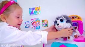 ناستیا و  استیسی : استیشن و سگ اسباب بازی | Like Nastya Show