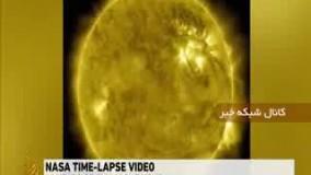 انتشار تصویر تند یک ساعته از ده سال حرکت خورشید