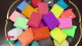 مخلوط کردن اسلایم های رنگی