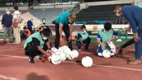 ضدعفونی کردن توپ های بازی در ورزشگاه آزادی
