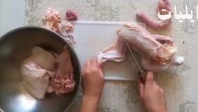 روش صحیح تکه کردن مرغ   آموزش آشپزی زیر ۴ دقیقه