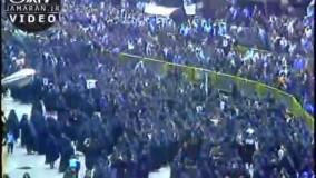 عزاداری مردم هنگام شنیدن خبر ارتحال امام خمینی