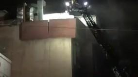 نجات اهالی ساختمان محل انفجار در خیابان شریعتی تهران