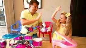 دیانا و ابزارهای موسیقی :: ماجراهای دیانا و روما