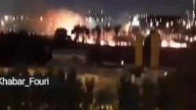 تصاویری از آتش سوزی اخیر در دریاچه چیتگر