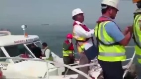 فوری: اولین تصاویر از غرق شدن کشتی ایرانی بهبهان در سواحل عراق.