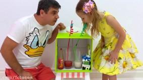 ناستیا و استیسی | نستیا و بازیهای سرگرم کننده  با پدر در خانه | Like Nastya Show