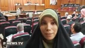 معاون سابق قوهقضائیه با لباس زندان در دادگاه