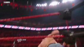 کشتی کج WWE - مبارزه ی دیدنی بین جان سینا، رندی اورتن، باتیستا و جک سواگر  در راو RAW